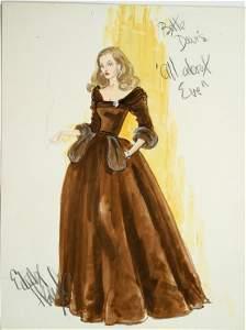 Edith Head Bette Davis Costume Design Sketch
