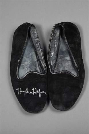 PLAYBOY: Hugh Hefner Signed Slippers