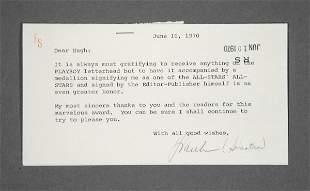 PLAYBOY: Frank Sinatra Letter to Hugh Hefner