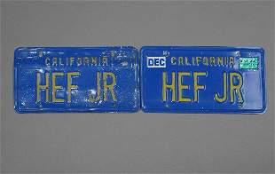 PLAYBOY: Hugh Hefner Owned License Plates