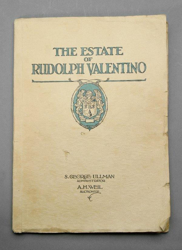 1: Rudolph Valentino Auction Catalogue