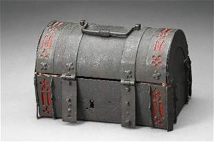 Rudolph Valentino Owned Metal Chest