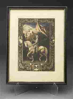 """Rudolph Valentino Owned """"Knight Print"""""""