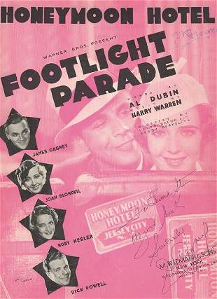 "James Cagney ""Honeymoon Hotel"" Signed Sheet Music"
