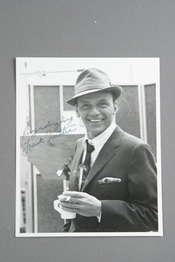 21: Frank Sinatra Autographed Photograph