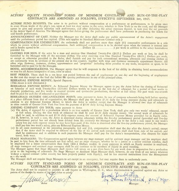 23: Jimmy Stewart Signed Contract