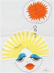 97: Janis Joplin Signed Personal Artwork