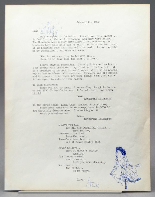 122: Stevie Nicks Typed Letter Signed