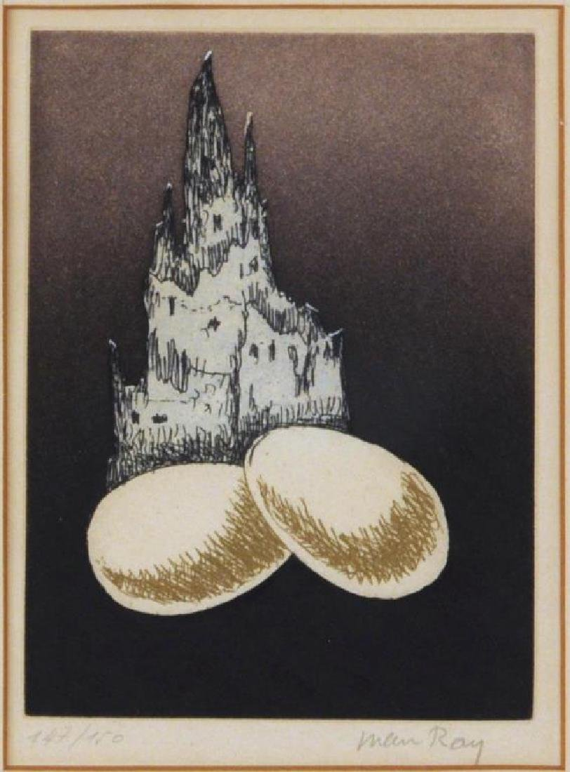 Man Ray, Two Framed Untitled Etchings - 3