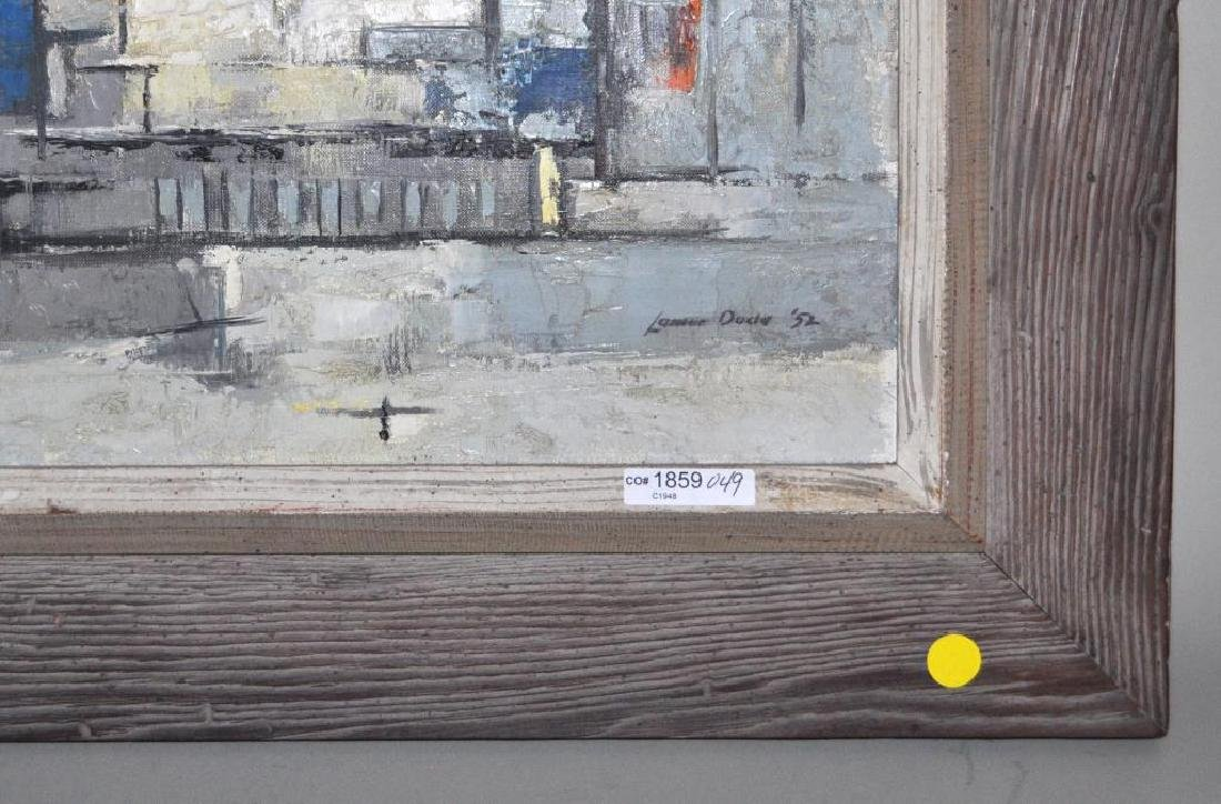 "Lamar Dodd, ""City"" Abstract Cityscape O/C - 2"