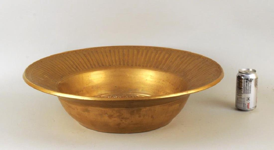 Ron Dier Design 24K Gold Glazed Ceramic Bowl