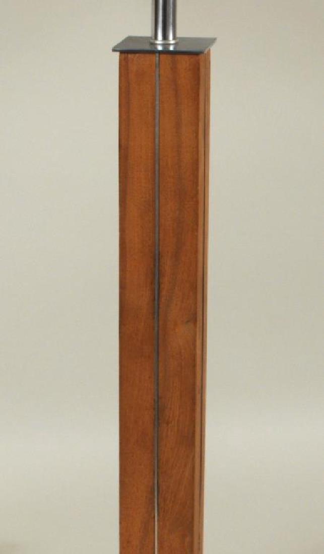 Walter Von Nessen Walnut, Brushed Metal Table Lamp - 2