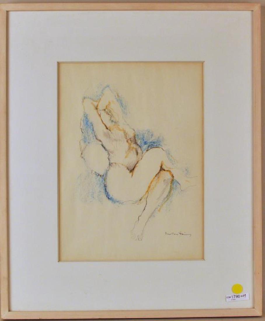 "Dorothea Tanning, ""Maenad Seated"" Oil Pastel/P"