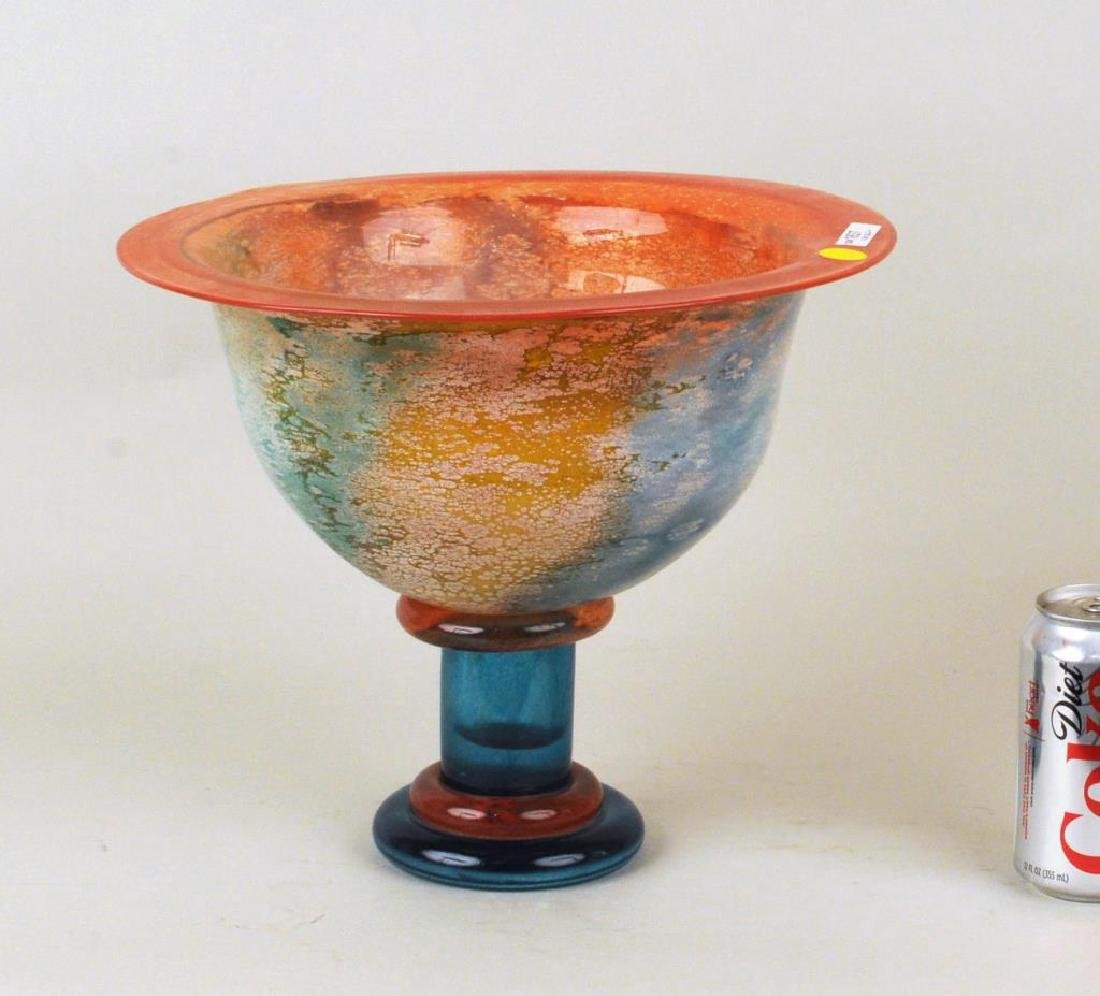 Kosta Boda Colored Footed Glass Bowl