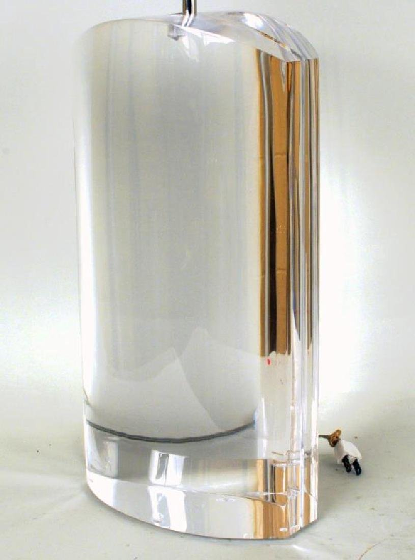 Exceptional Pair of Large Lucite Table Lamps - 5