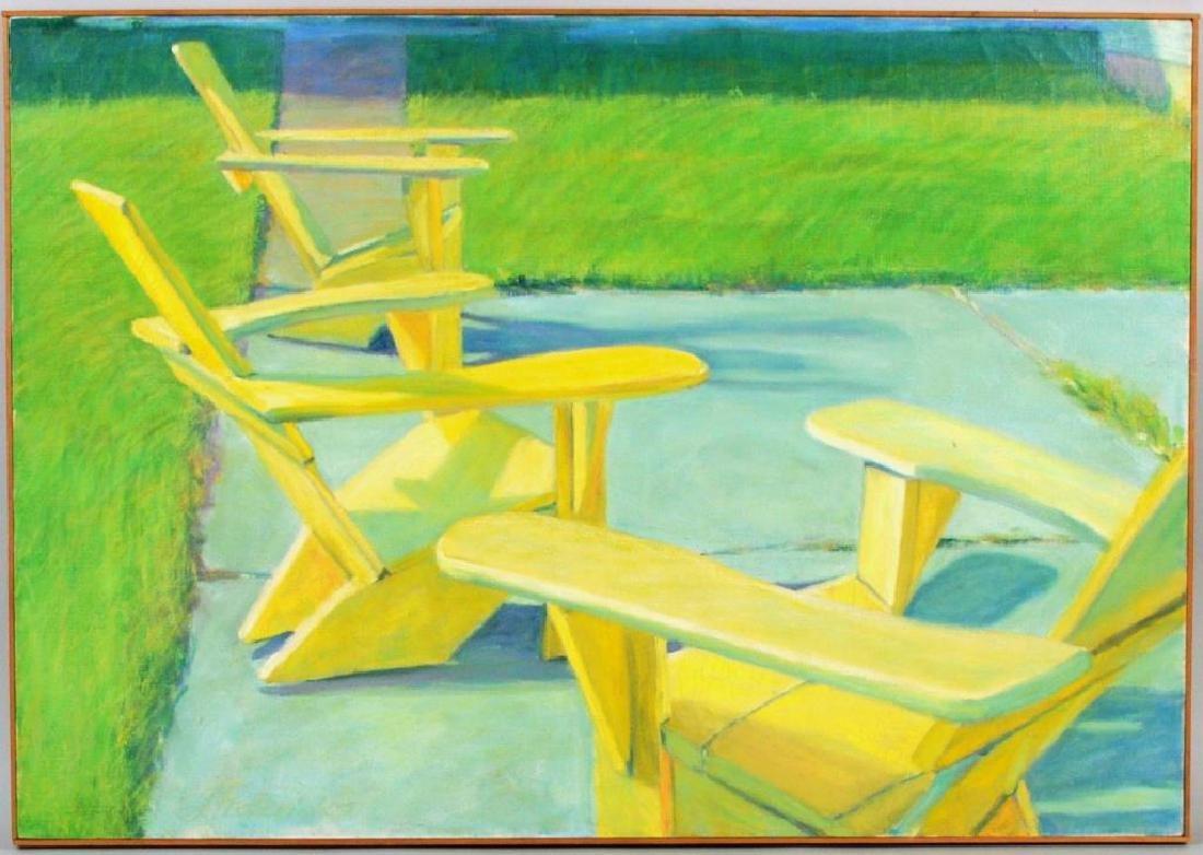 "Janet Fredericks, ""Landscape Poolside Scene"""