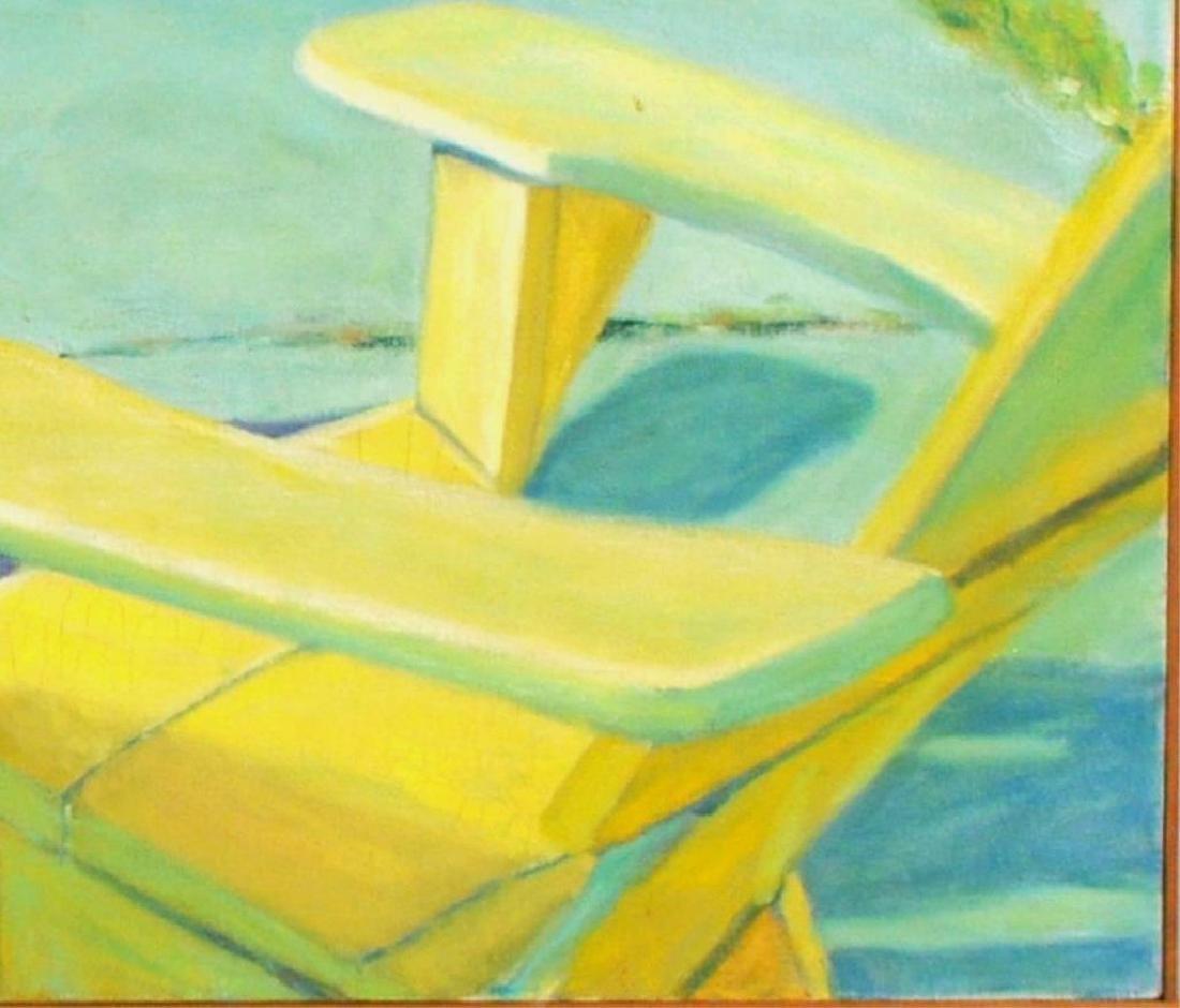 "Janet Fredericks, ""Landscape Poolside Scene"" - 2"