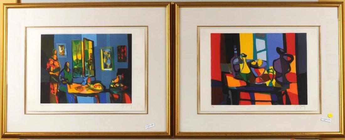 Two Modern Framed Lithographs