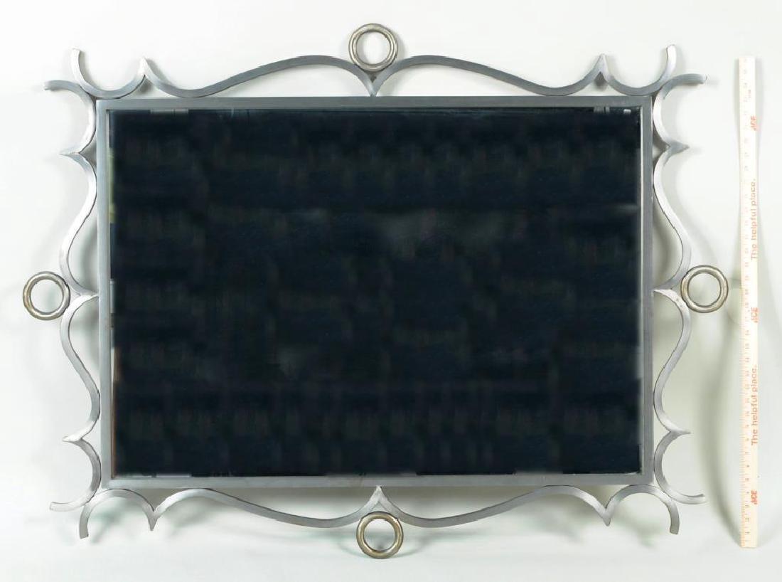 Modernist Steel Framed Mirror