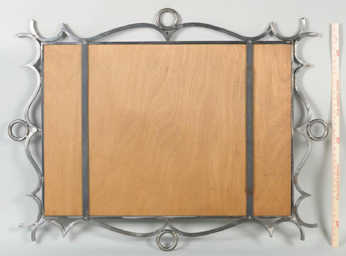 Modernist Steel Framed Mirror - 2