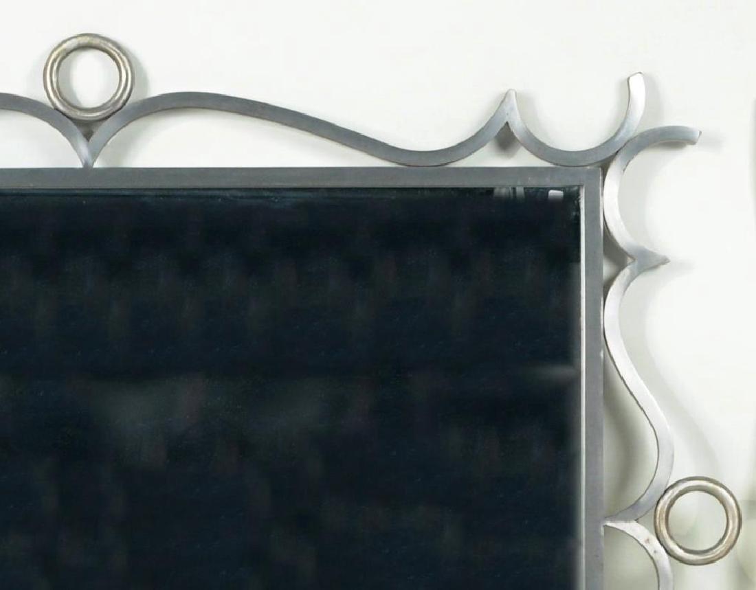Modernist Steel Framed Mirror - 3