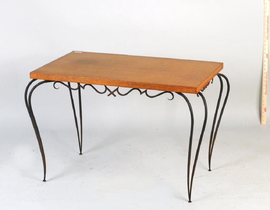 Rene Prou Wrought Iron Side Table