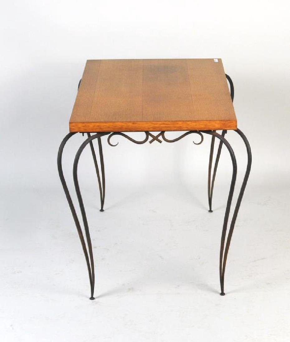 Rene Prou Wrought Iron Side Table - 2