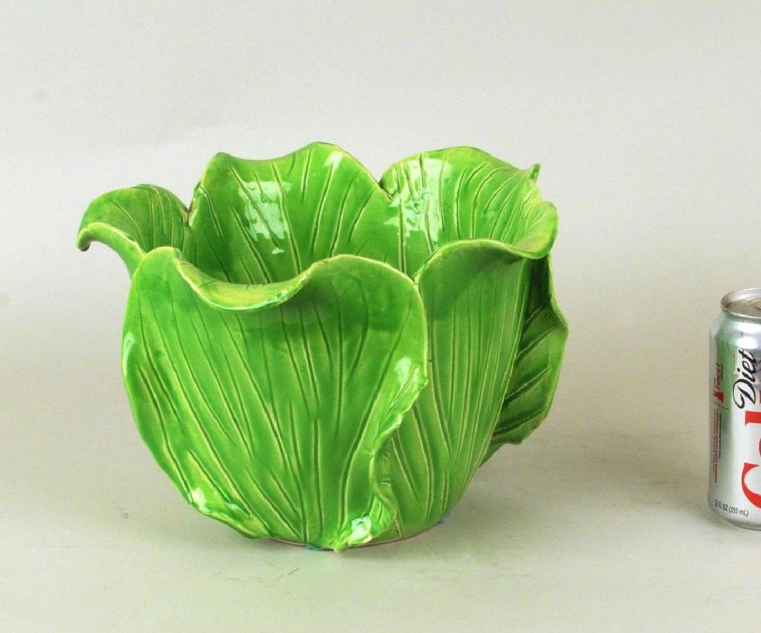 French Jean Roger Glazed Ceramic Cabbage Bowl