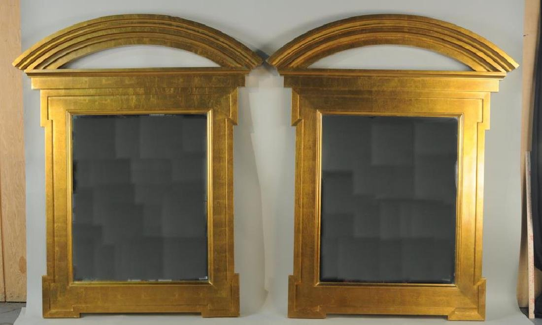 Large Pair Donghia Georgian Style Gilt Mirrors