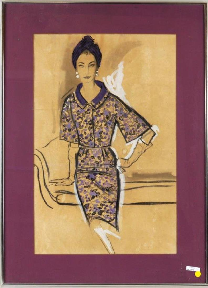 Mid-Century Fashion Illustration