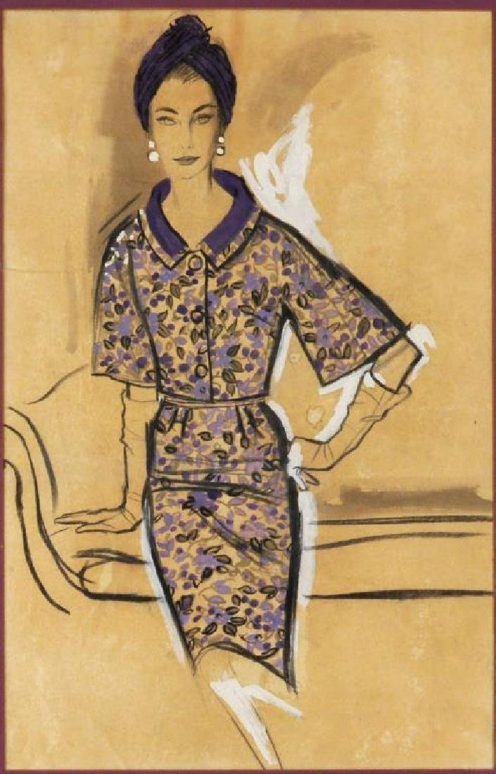 Mid-Century Fashion Illustration - 2