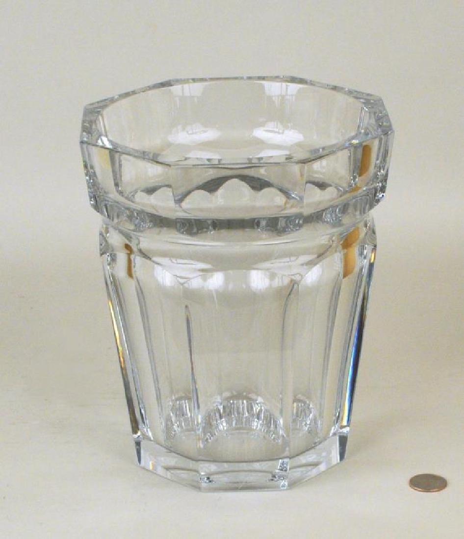 Large Baccarat Faceted Crystal Vase