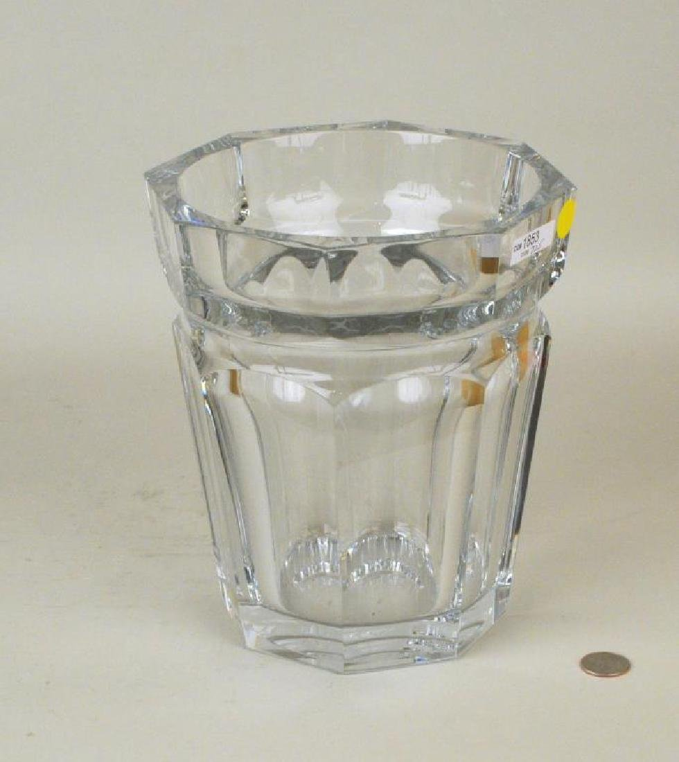 Large Baccarat Faceted Crystal Vase - 2