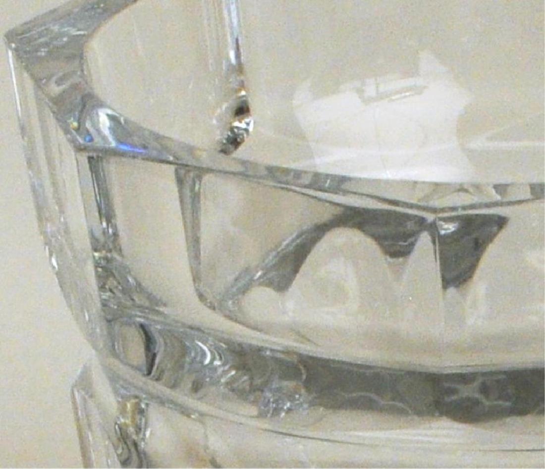 Large Baccarat Faceted Crystal Vase - 5