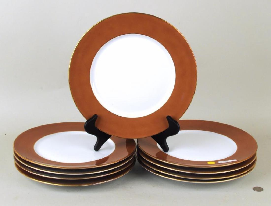 Set Eight R. Ginori Porcelain Service Plates