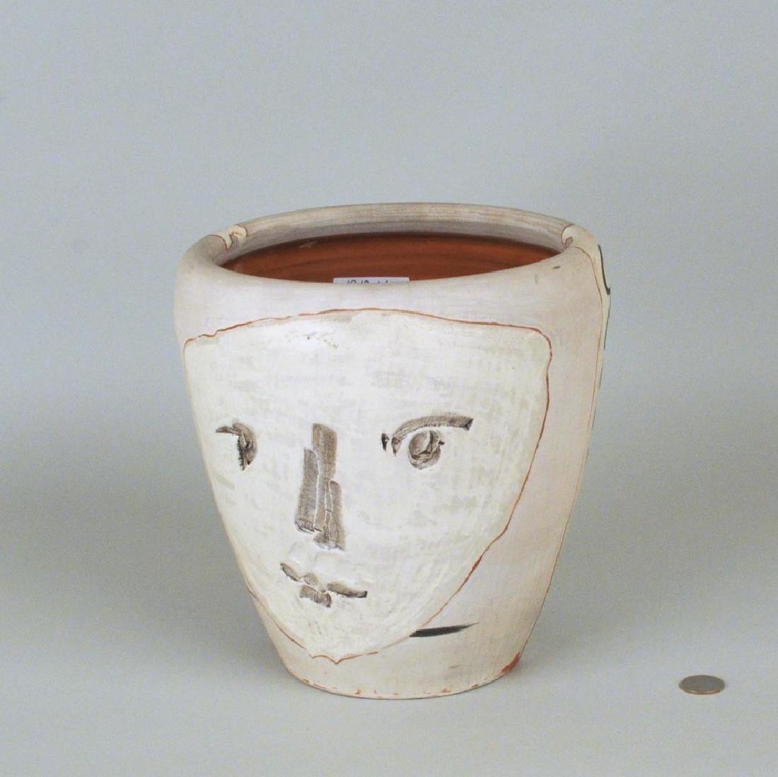 """Pablo Picasso Ceramic """"Face & Owl Vase"""""""