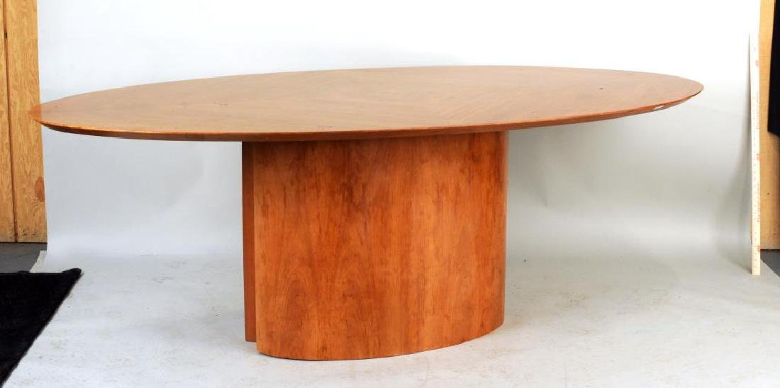 Modern Cherry Oval Dining Table