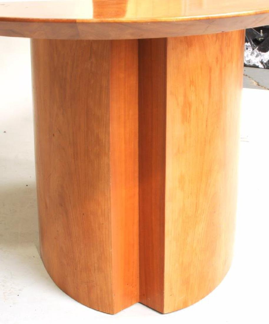 Modern Cherry Oval Dining Table - 3