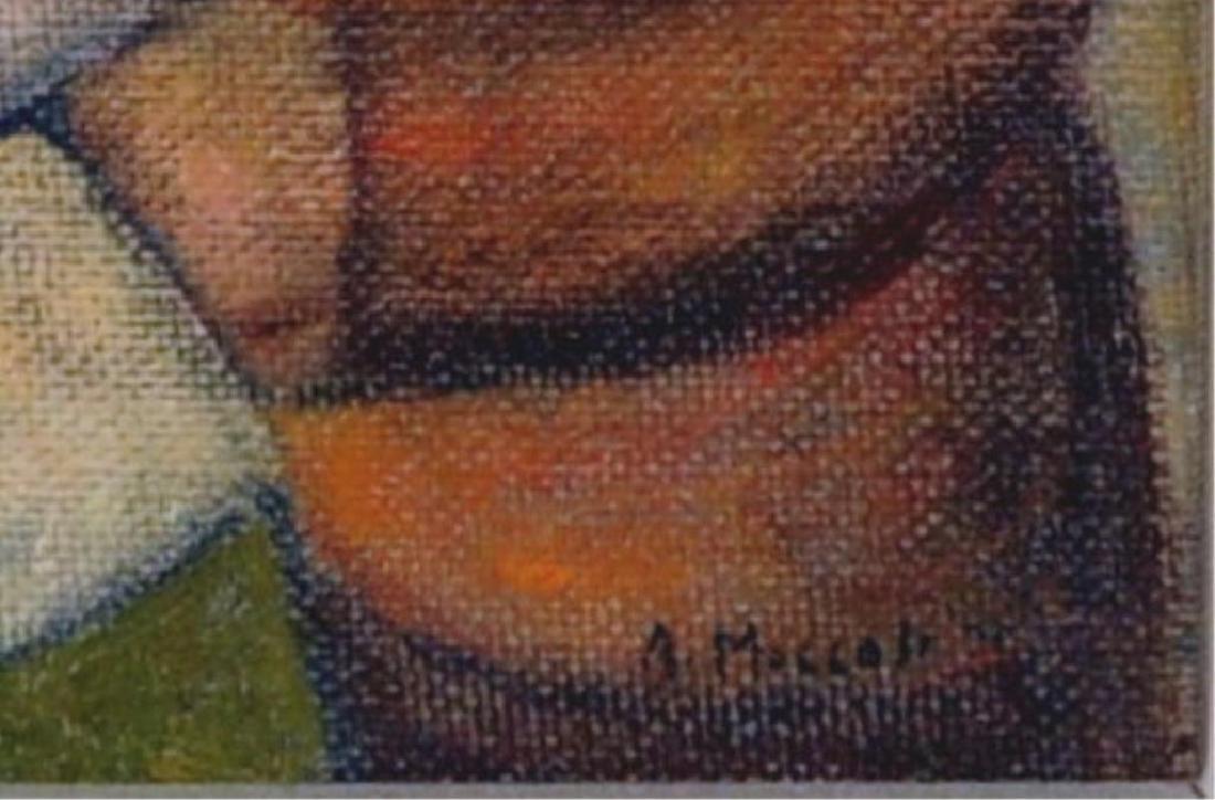 "Arnaldo Miccoli, ""3 Figures"" Oil on Masonite - 3"