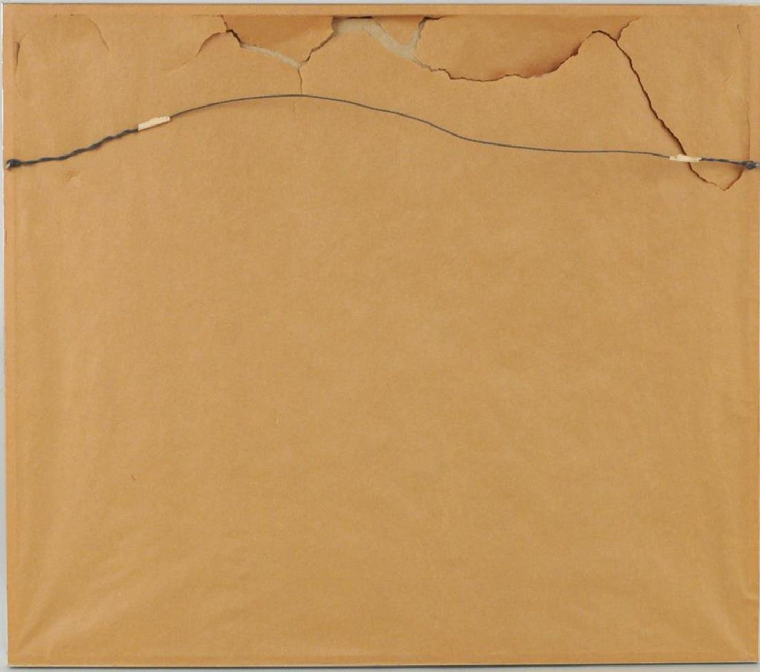 "Arnaldo Miccoli, ""3 Figures"" Oil on Masonite - 4"