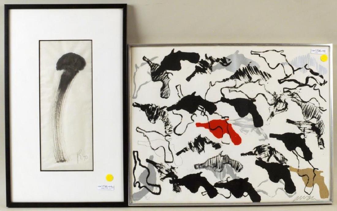 Two Modern Framed Artworks