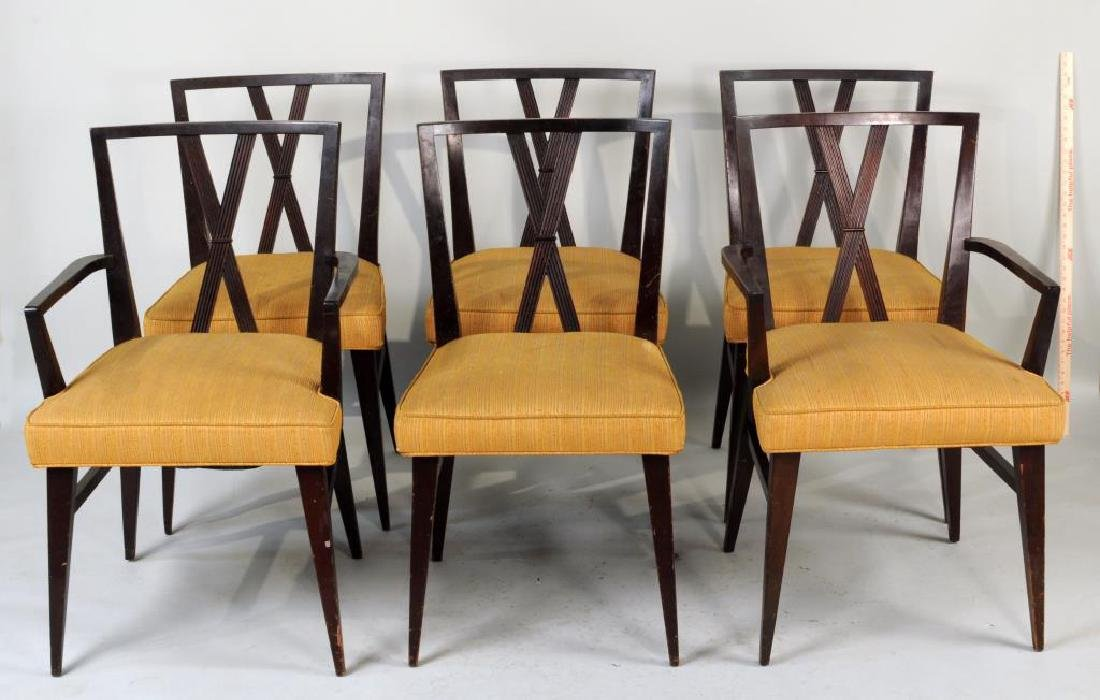 Set Six Tommi Parzinger Dining Chairs