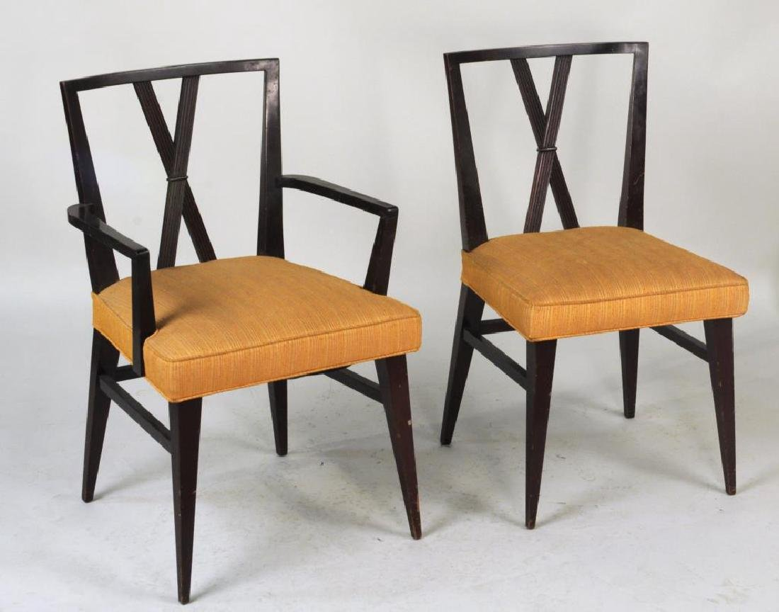 Set Six Tommi Parzinger Dining Chairs - 2