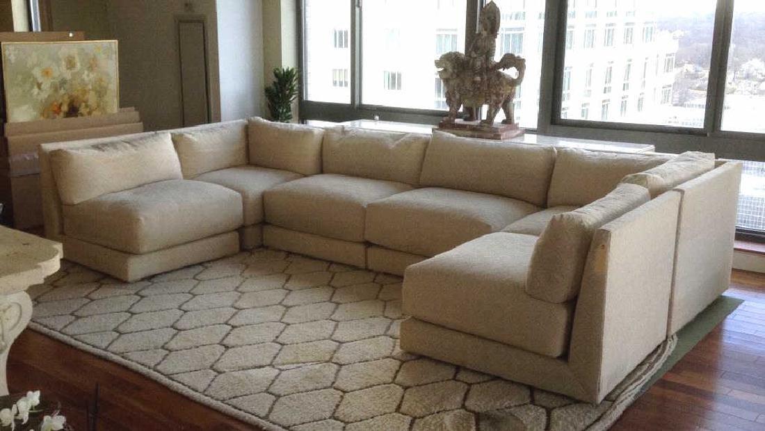 Donghia Six Piece Sectional Modernist Sofa
