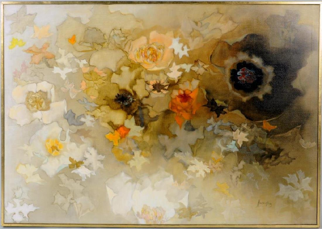 F. Hasenflug, Floral Abstract Painting