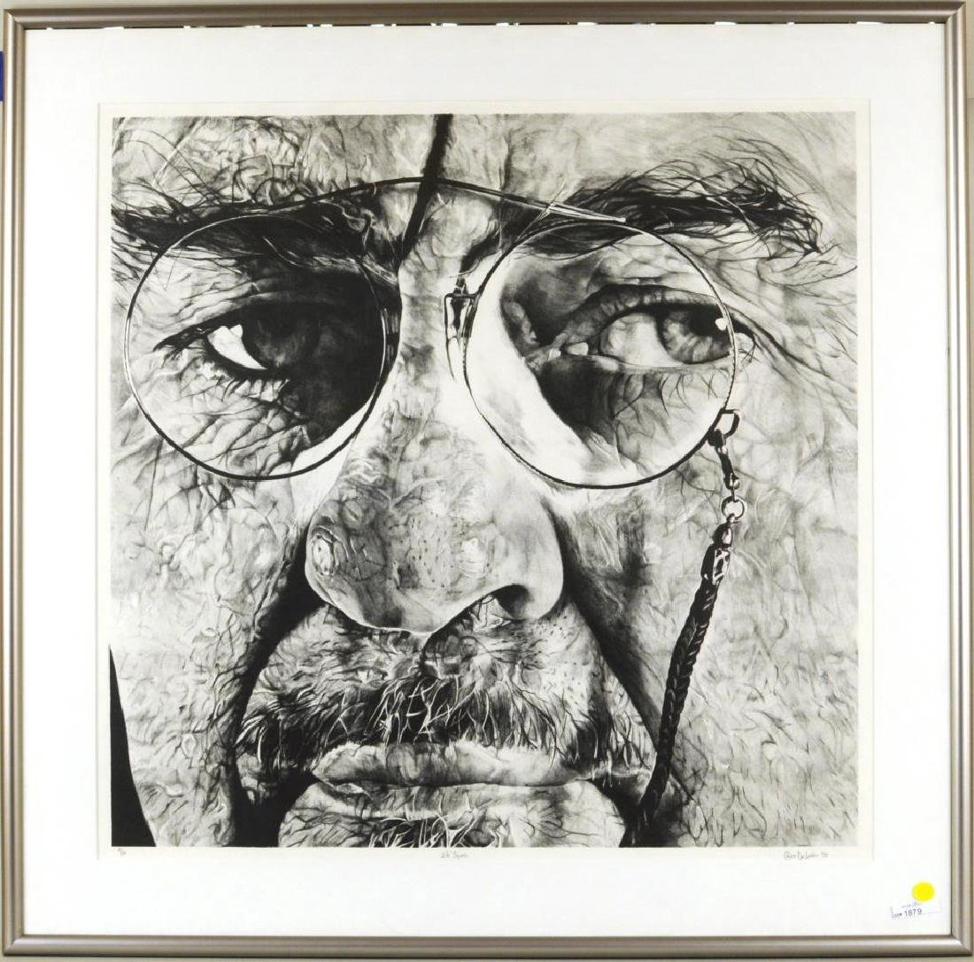 "Charles DeLong ""2 1/2"" Square"" Lithograph"