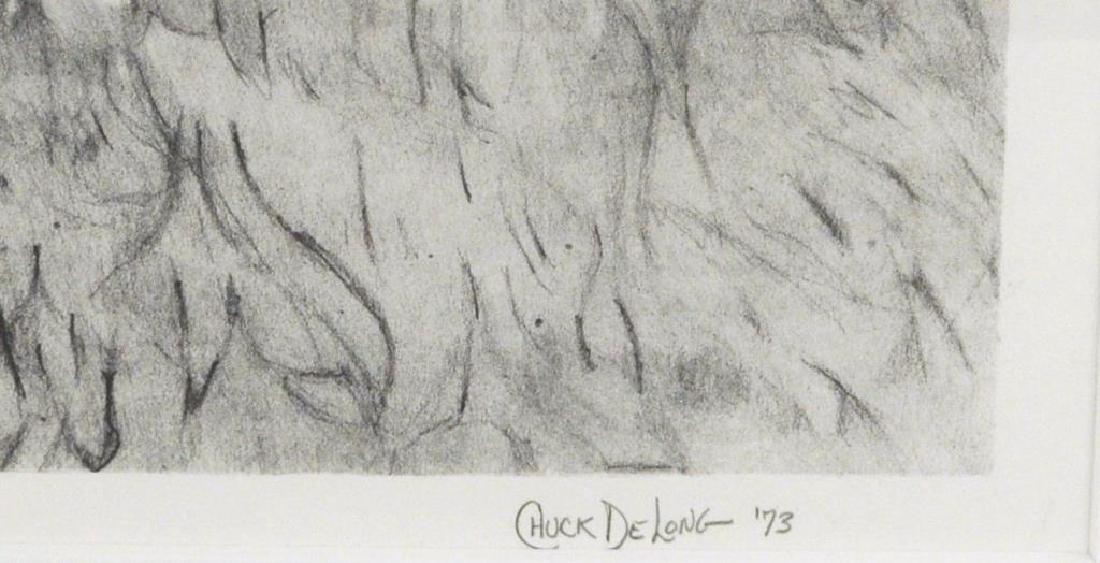 "Charles DeLong ""2 1/2"" Square"" Lithograph - 3"
