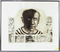 Michael Jacques Homage To Picasso Etching