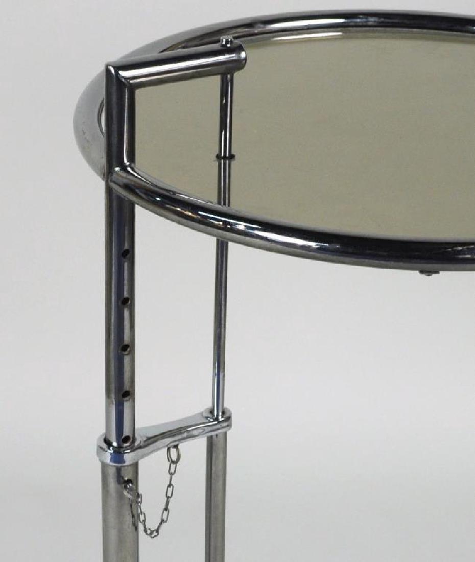 Mid-Century Chrome & Glass Adjustable Height Table - 4