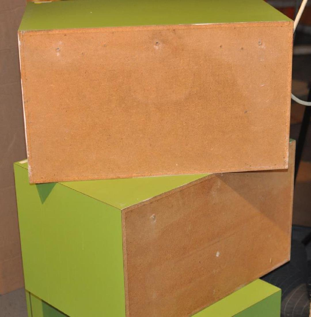 Mid-Century Modern Chartreuse Painted Cabinets - 4